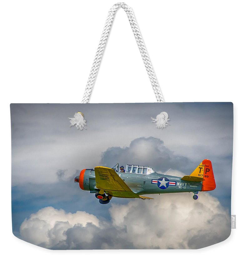 At-6 Weekender Tote Bag featuring the photograph Into The Wild Blue by Guy Whiteley