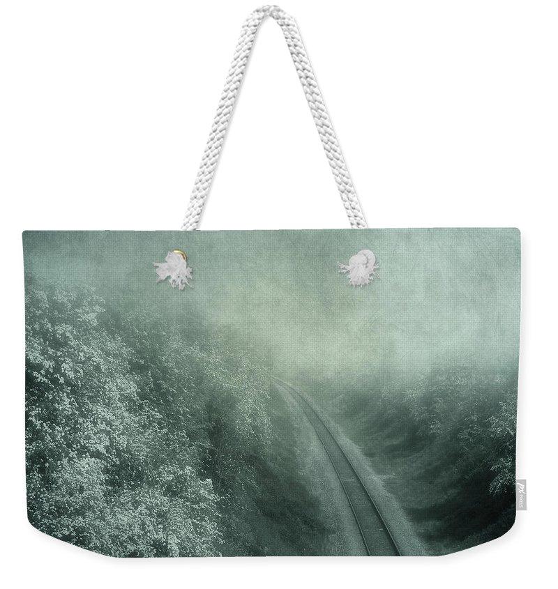 Atmospheric Weekender Tote Bag featuring the digital art Into Unknown by Svetlana Sewell