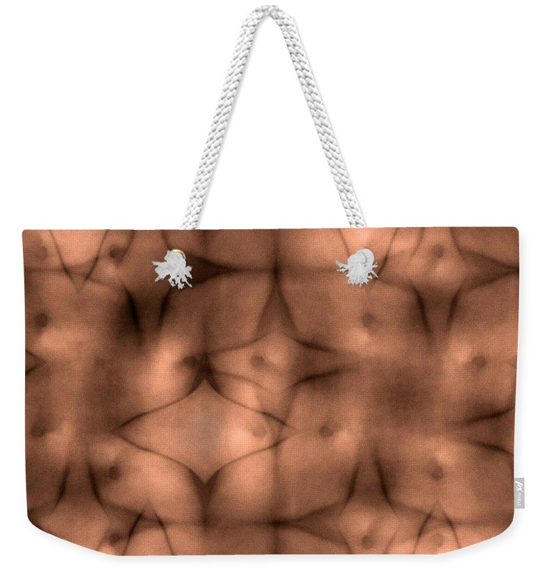 Intraception Weekender Tote Bag featuring the digital art Intraception by Carlos Vieira