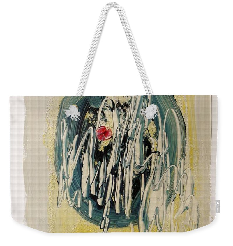 Monoprint Weekender Tote Bag featuring the painting Intrique by John Williams