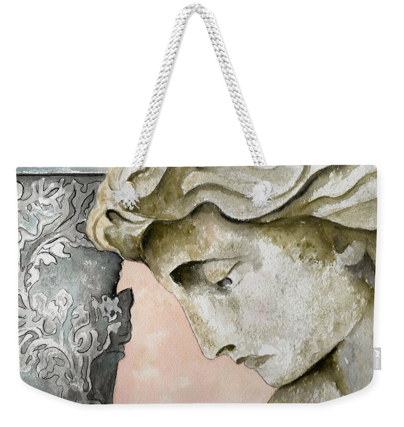 Watercolor Weekender Tote Bag featuring the painting Introspective by Brenda Owen