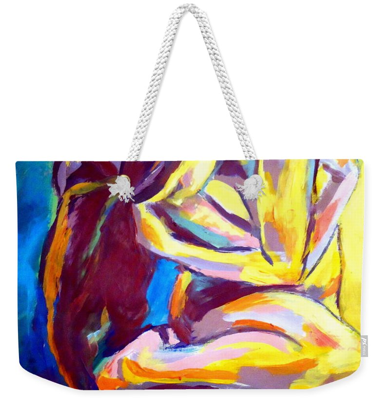 Nude Figures Weekender Tote Bag featuring the painting Introspective by Helena Wierzbicki