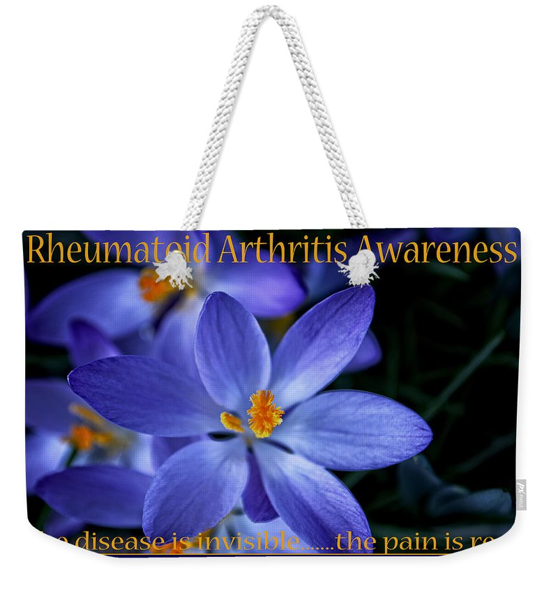 Arthritis Weekender Tote Bag featuring the photograph Invisible Disease by Tikvah's Hope