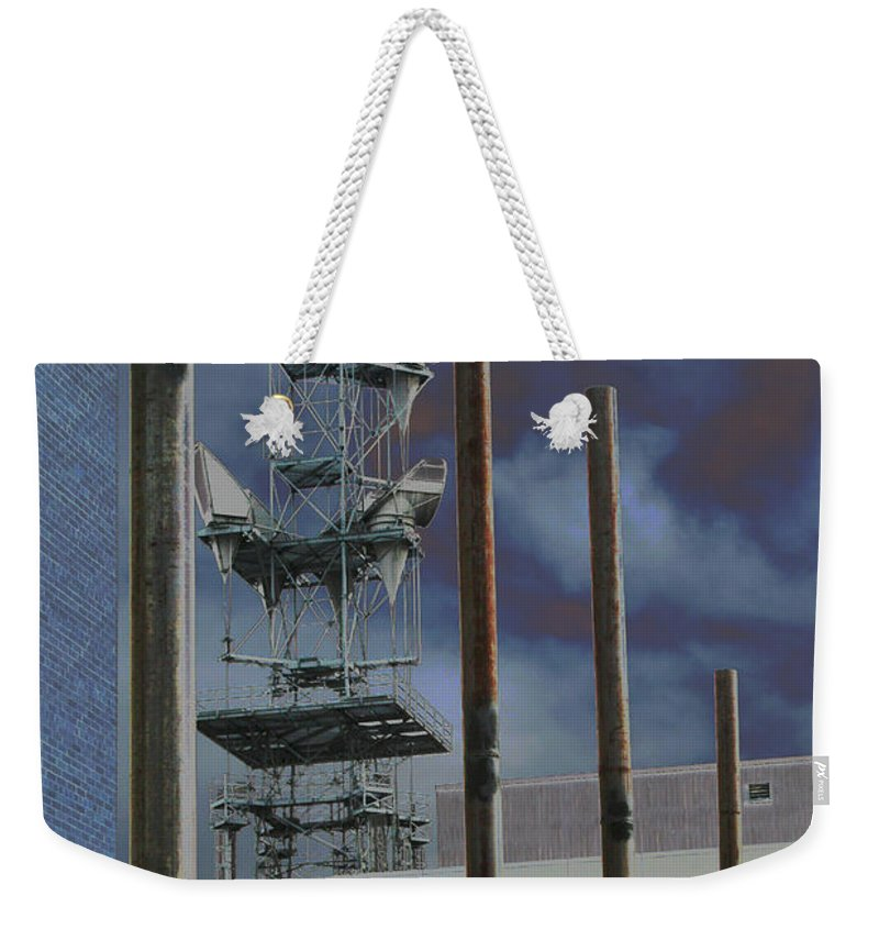 Industrial Weekender Tote Bag featuring the photograph Invisible Industry by Ric Bascobert