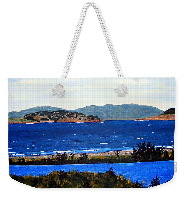 Islands Weekender Tote Bag featuring the painting Iona formerly Rams Islands by Barbara Griffin