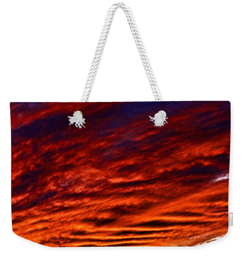 Iphone Weekender Tote Bag featuring the photograph iPhone Southwestern Skies by Robert Frederick