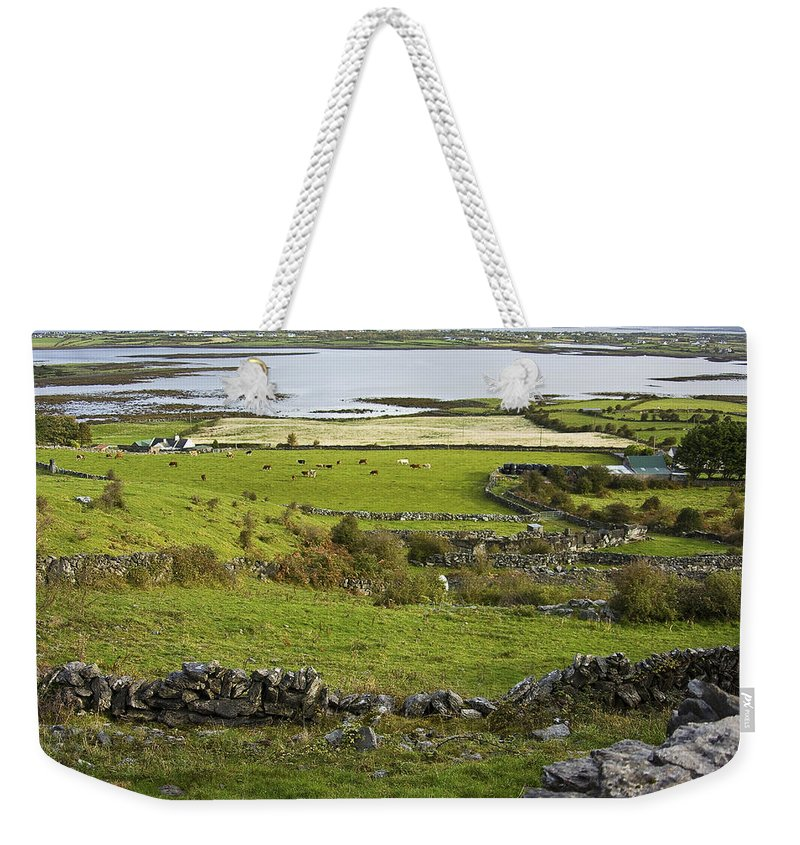 Ireland Weekender Tote Bag featuring the photograph Ireland Farm by Sharon M Connolly