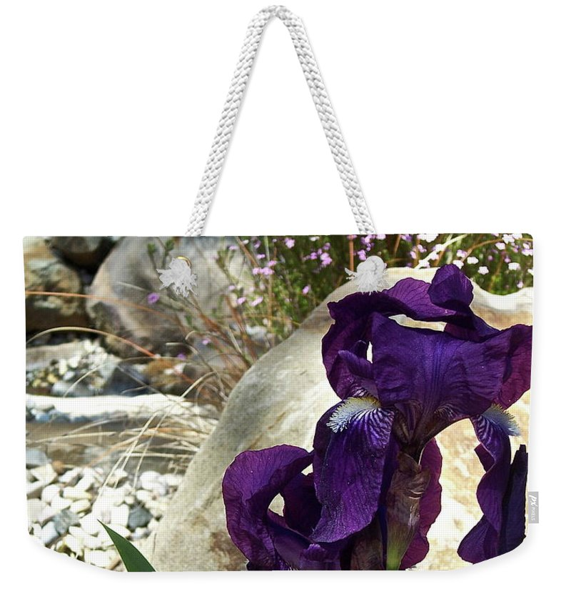 Flowers Weekender Tote Bag featuring the photograph Iris 14 by Pamela Cooper
