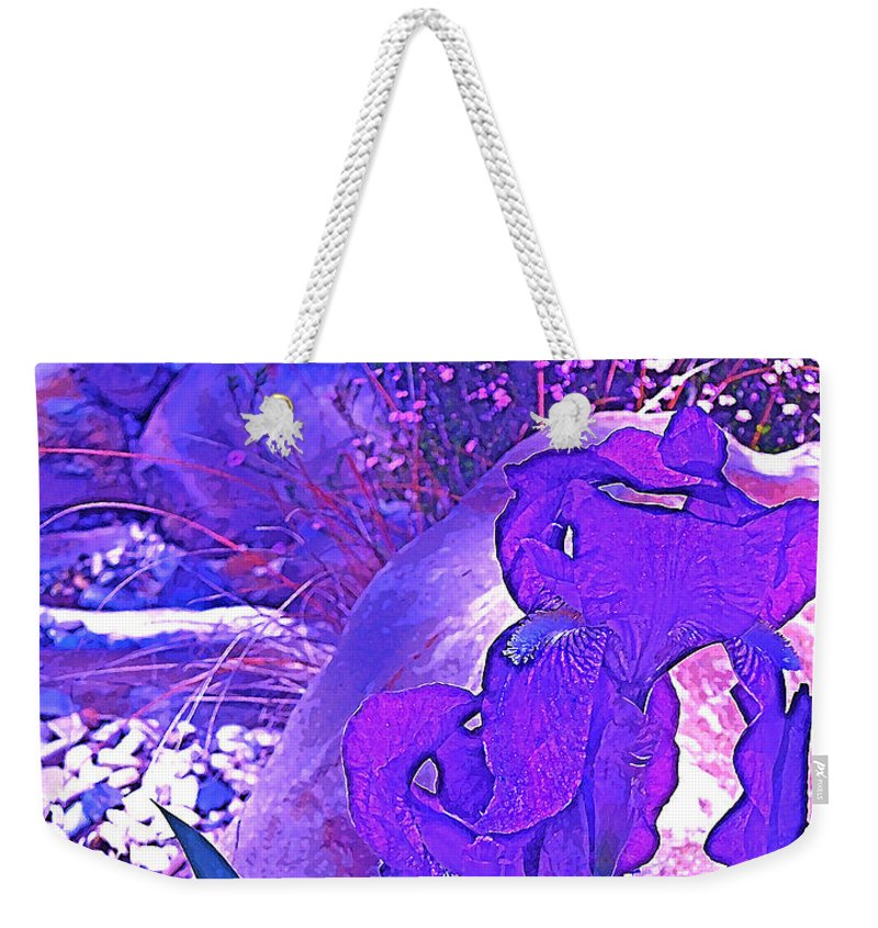 Flowers Weekender Tote Bag featuring the photograph Iris 2 by Pamela Cooper