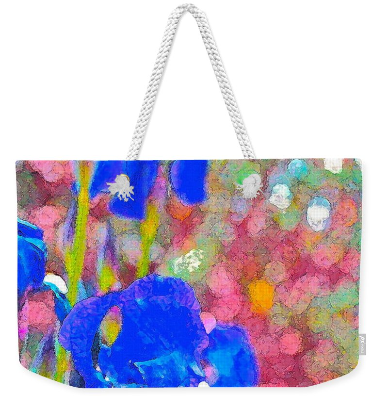 Floral Weekender Tote Bag featuring the photograph Iris 22 by Pamela Cooper