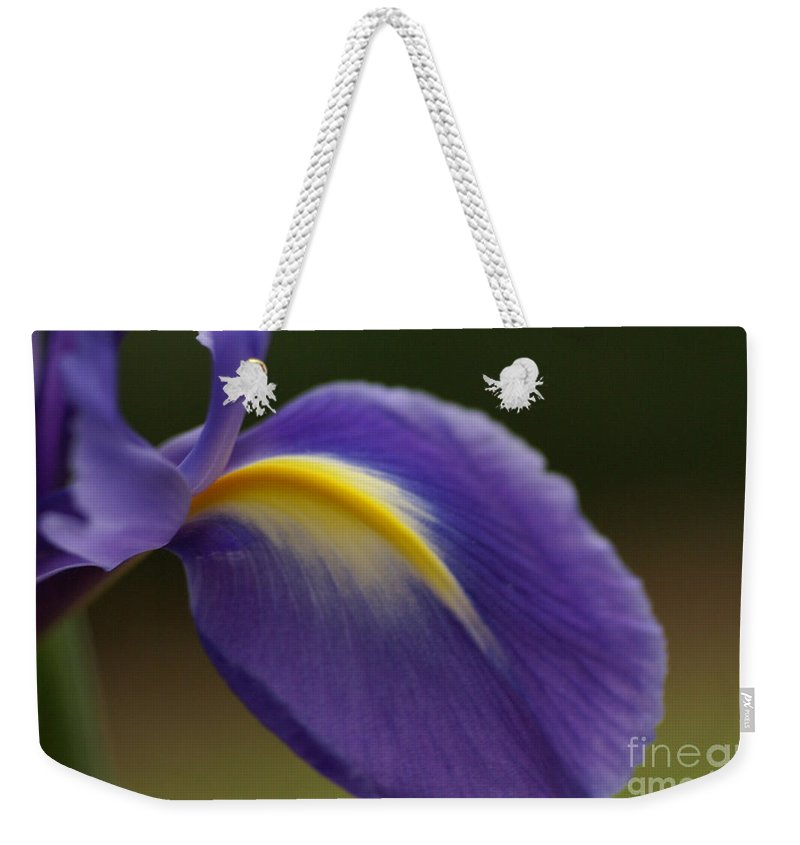 Purple Weekender Tote Bag featuring the photograph Iris 7 by Carol Lynch