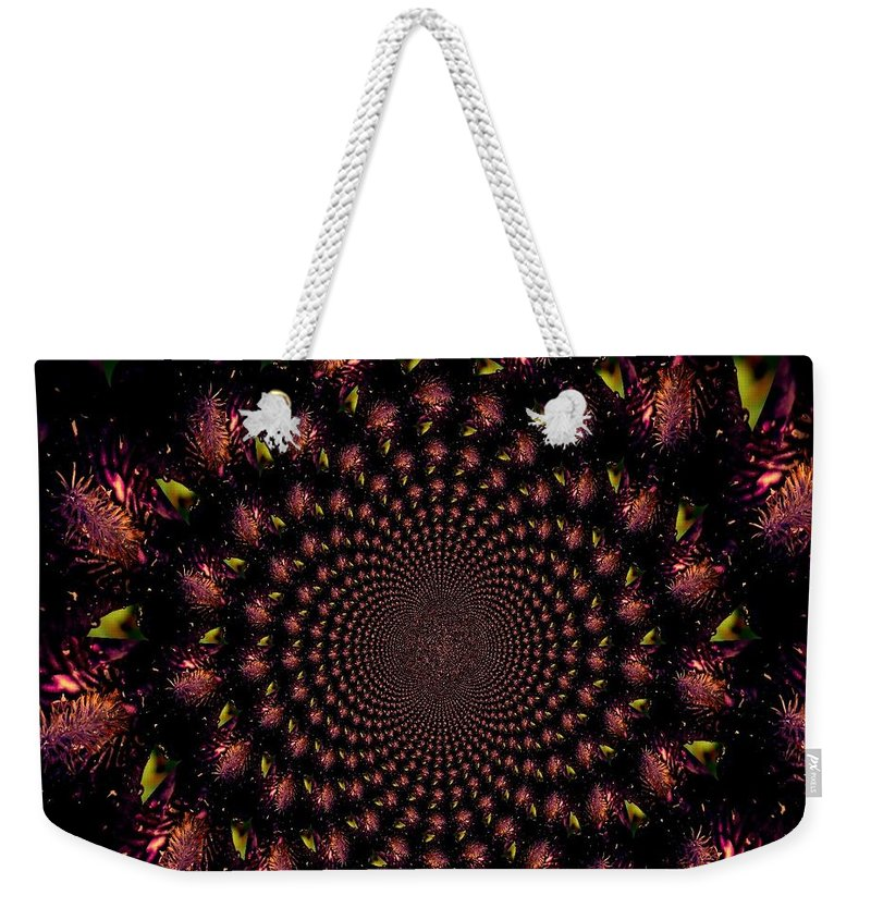 Earthy Weekender Tote Bag featuring the photograph Iris And Foliage by Chris Berry