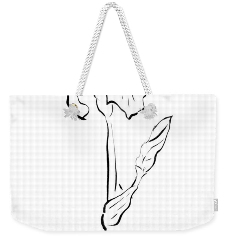 Abstract Weekender Tote Bag featuring the drawing Iris II by Micah Guenther