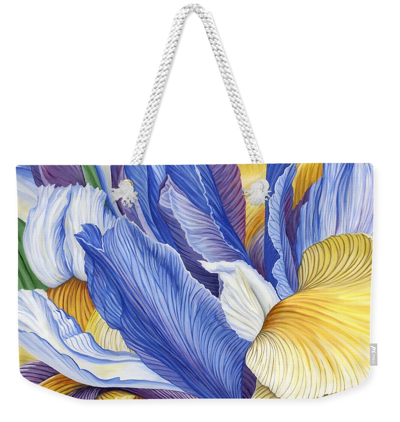 Iris Weekender Tote Bag featuring the painting Iris by Jane Girardot