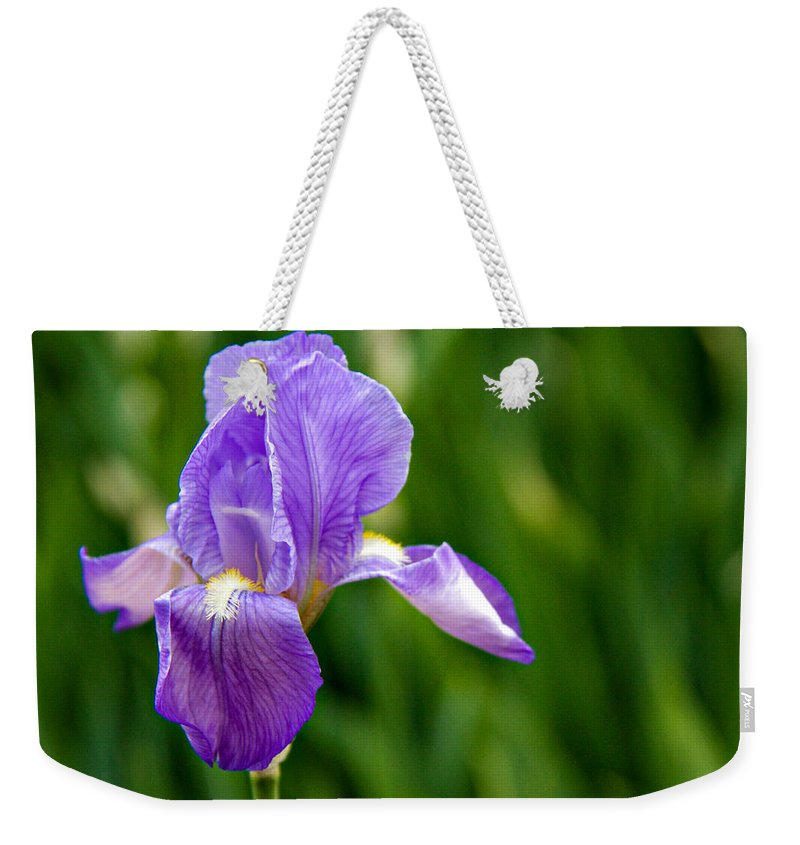 Background Weekender Tote Bag featuring the photograph Iris by Lana Trussell