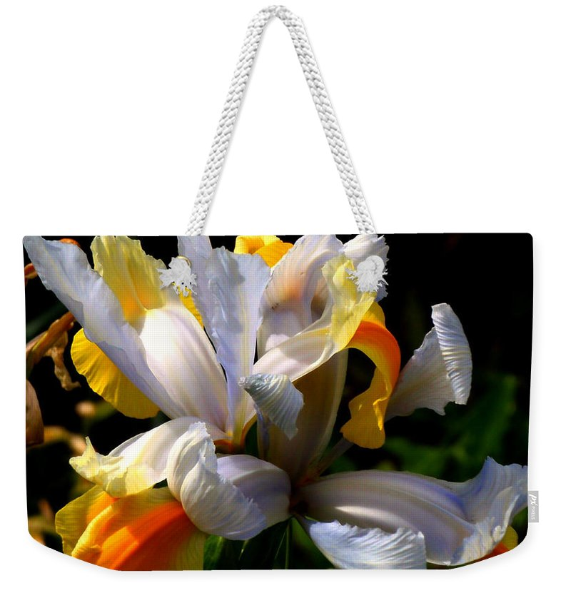 Iris Weekender Tote Bag featuring the photograph Iris by Rona Black
