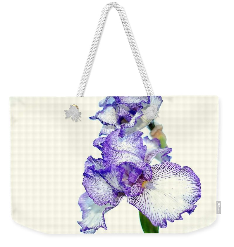 Iris Weekender Tote Bag featuring the photograph Iris by Todd Hostetter