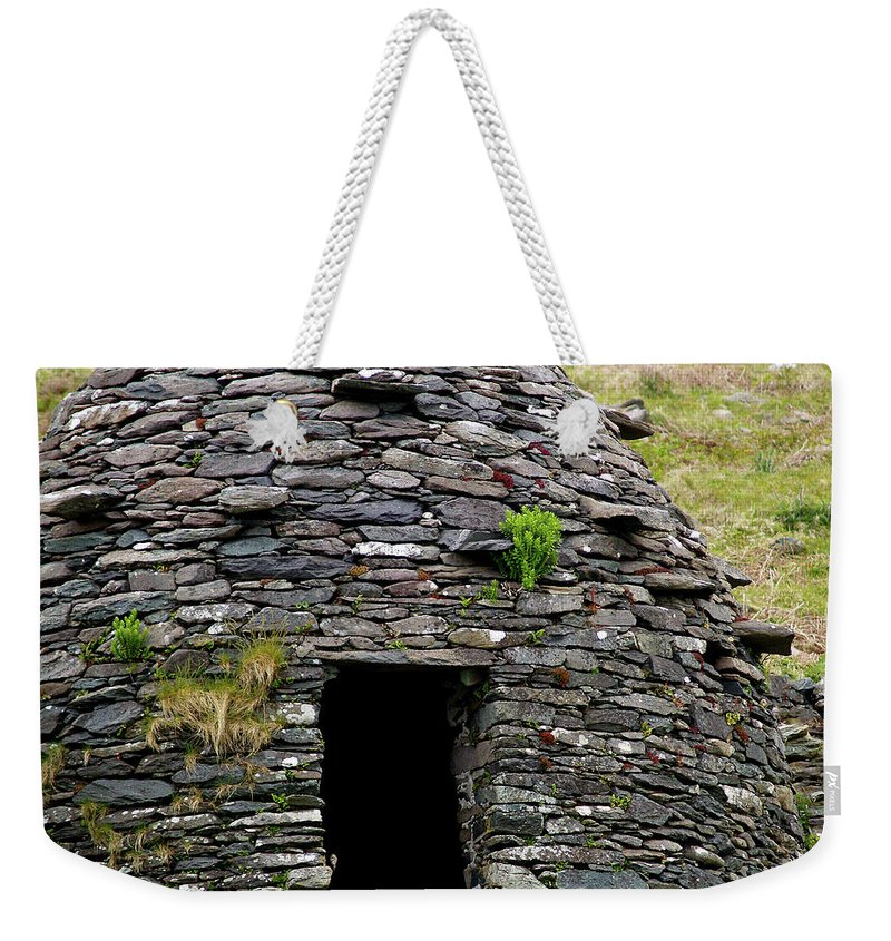 Beehive House Weekender Tote Bag featuring the photograph Irish Beehive House by Patricia Griffin Brett