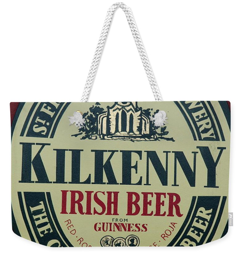 Irish Beer Sign Weekender Tote Bag featuring the photograph Irish Beer by Christiane Schulze Art And Photography