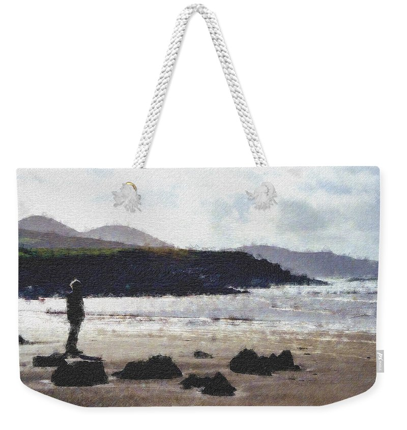 Ireland Weekender Tote Bag featuring the photograph Irish Coast Pastel Chalk by David Lange