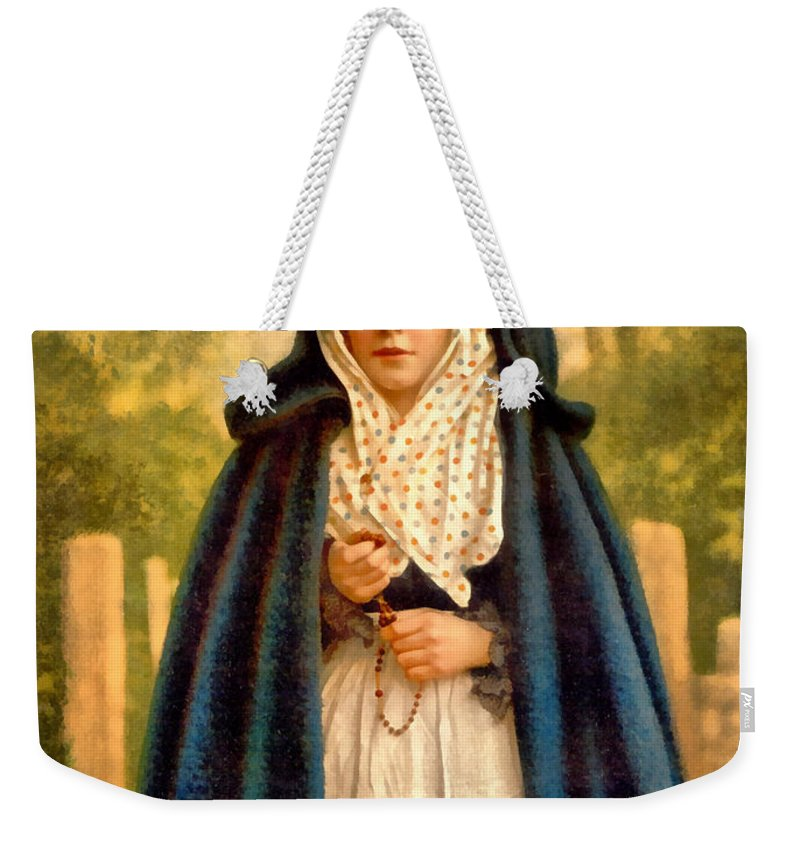 Vintage Image Weekender Tote Bag featuring the photograph Irish Colleen by Vintage Image