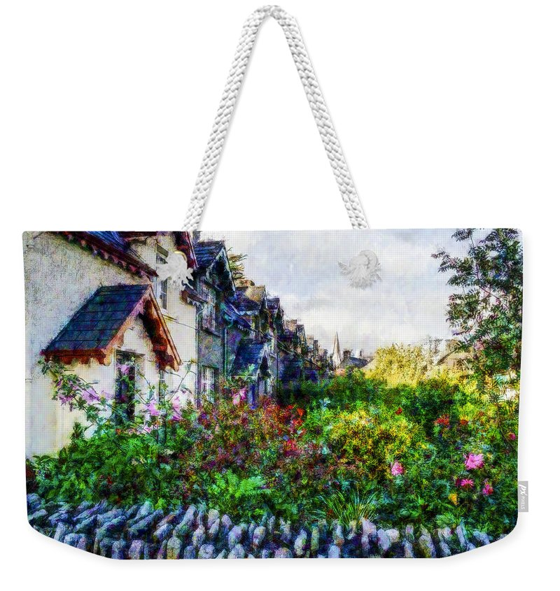 Landscape Weekender Tote Bag featuring the photograph Irish Garden Water Color by David Lange