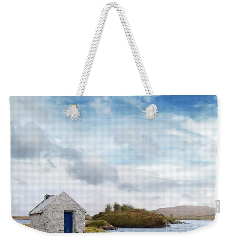 Water's Edge Weekender Tote Bag featuring the photograph Irish Landscape In Connemara by Narvikk