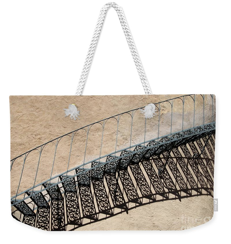 Stairs Weekender Tote Bag featuring the photograph Iron Stairs Shadow by Christiane Schulze Art And Photography