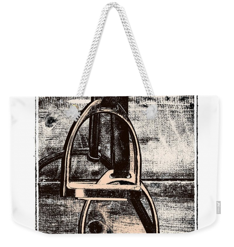Horse Weekender Tote Bag featuring the photograph Irons Tack by JAMART Photography