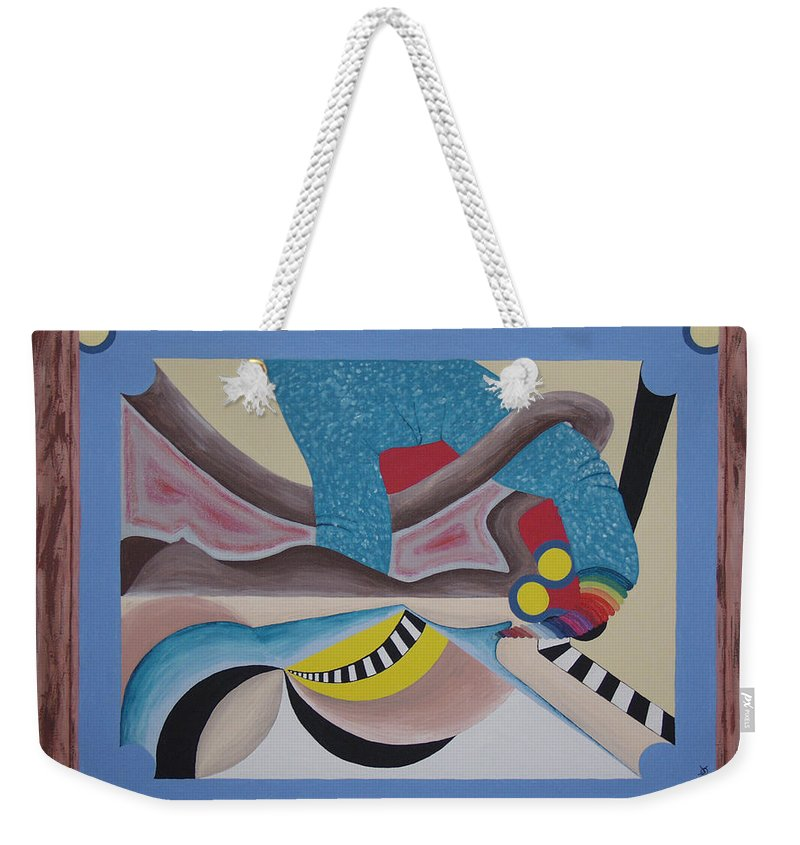Expressionism Weekender Tote Bag featuring the painting Irreconcilable Differences by Dean Stephens