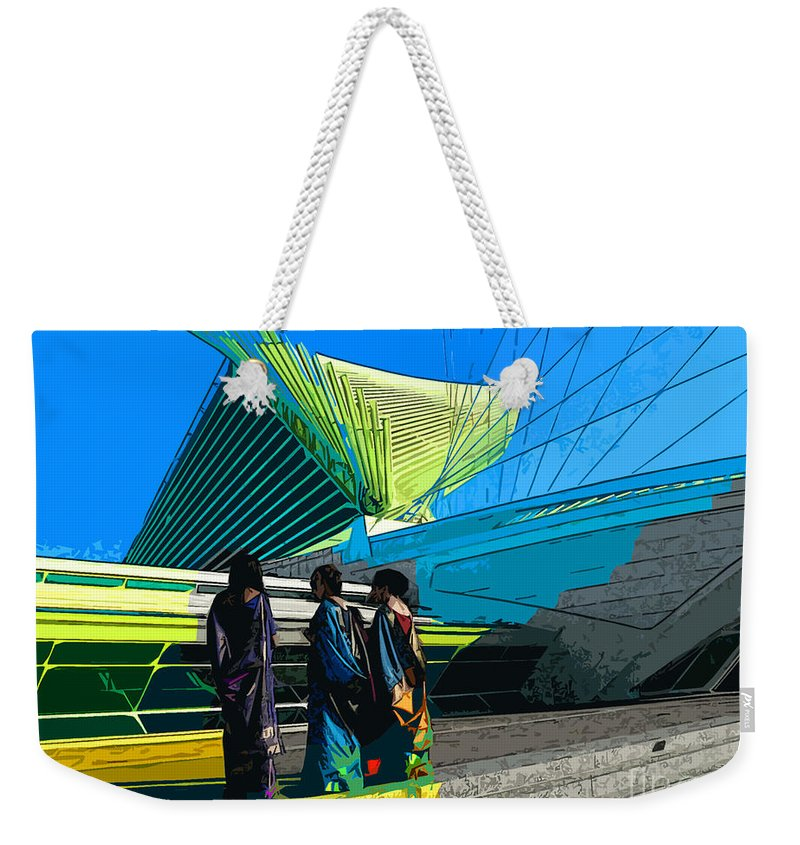 Indian Weekender Tote Bag featuring the photograph Is She Here Yet by David Bearden