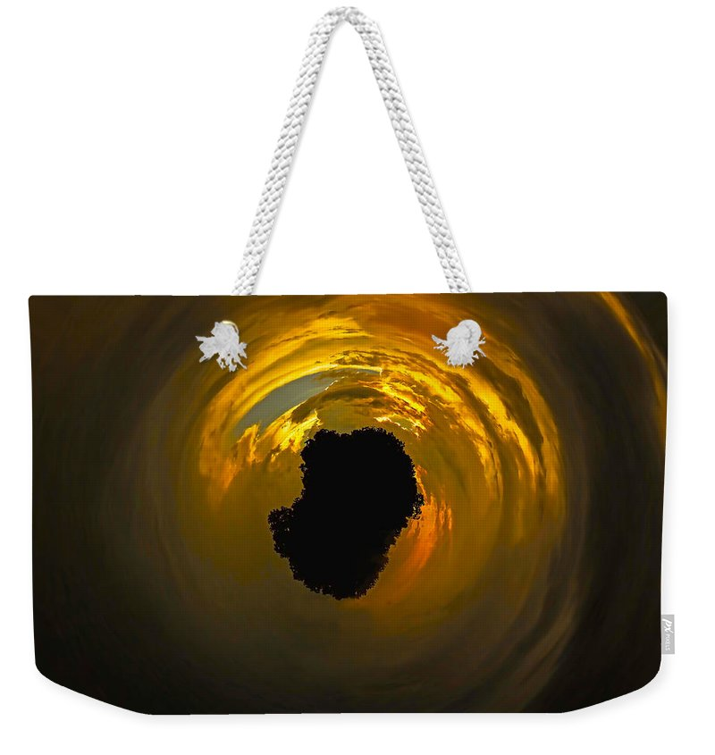 Island Weekender Tote Bag featuring the photograph Island In The Sky by Gary Holmes