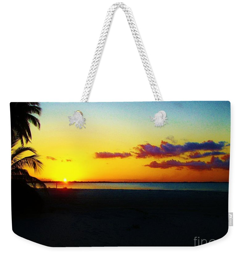 Keri West Weekender Tote Bag featuring the photograph Island Sunset by Keri West