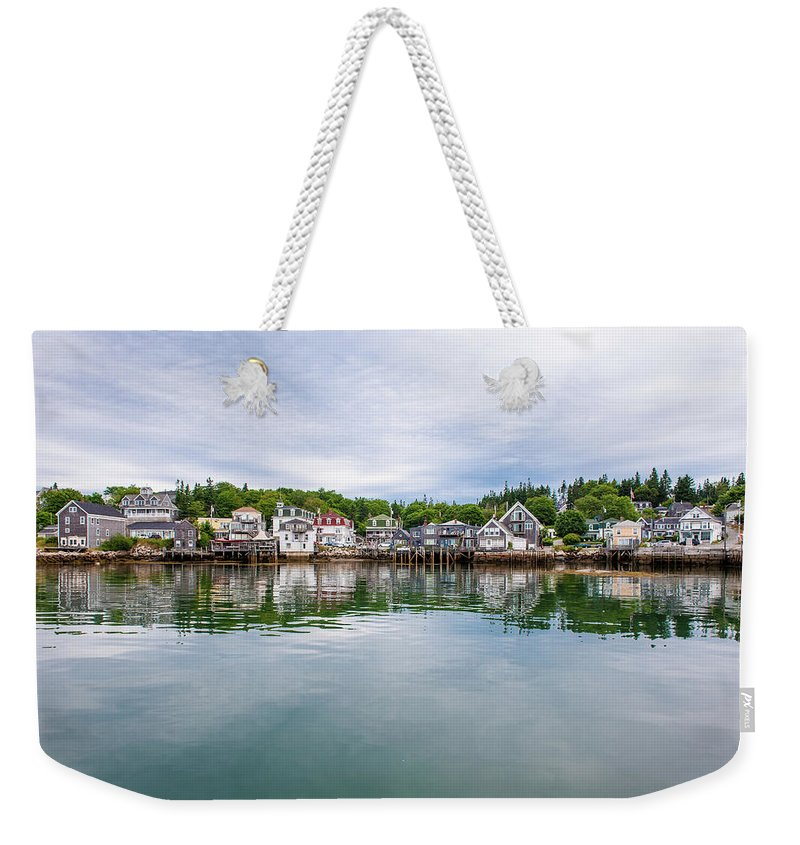 Town Weekender Tote Bag featuring the photograph Island Village by Edwin Remsberg