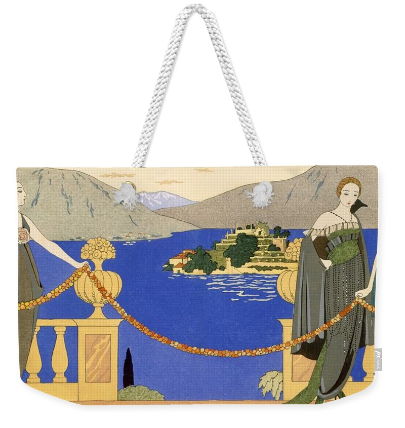 Stencil Weekender Tote Bag featuring the painting Isola Bella by Georges Barbier