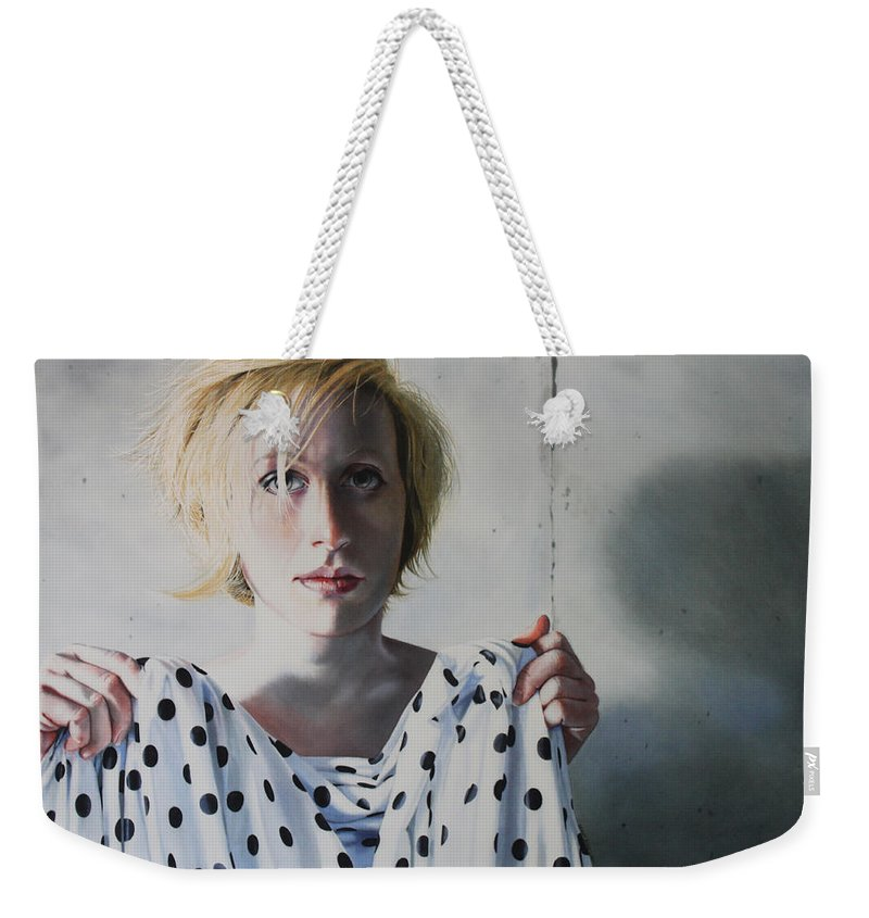 Female Weekender Tote Bag featuring the painting Isolated by Denny Bond