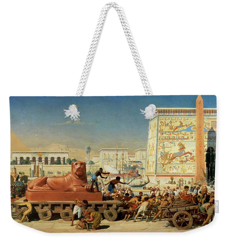 Lioness Weekender Tote Bag featuring the painting Israel In Egypt, 1867 by Sir Edward John Poynter