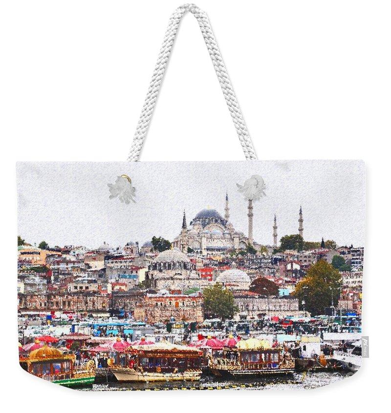 Istanbul Weekender Tote Bag featuring the digital art Istanbul by Dia Karanouh