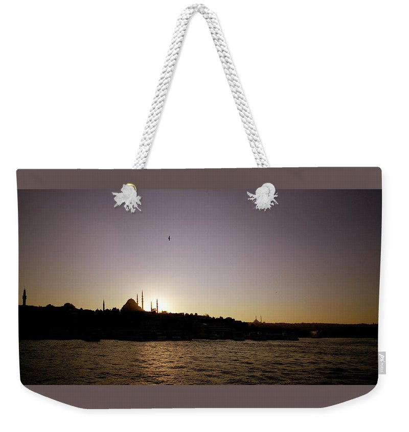 Istanbul Weekender Tote Bag featuring the photograph Istanbul Sunset by Shaun Higson