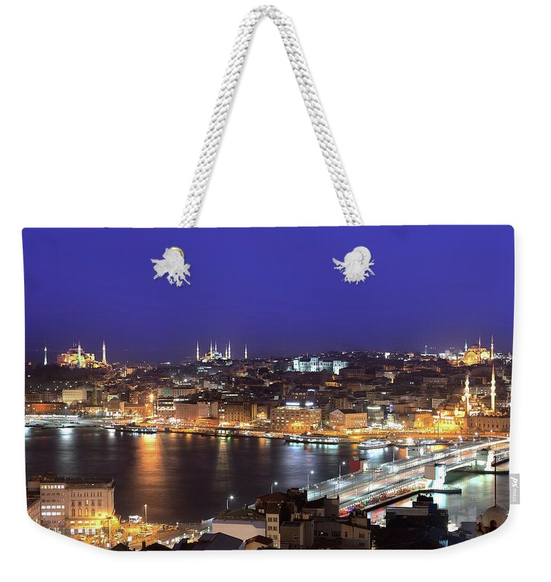 Istanbul Weekender Tote Bag featuring the photograph Istanbul by Tolga Tezcan
