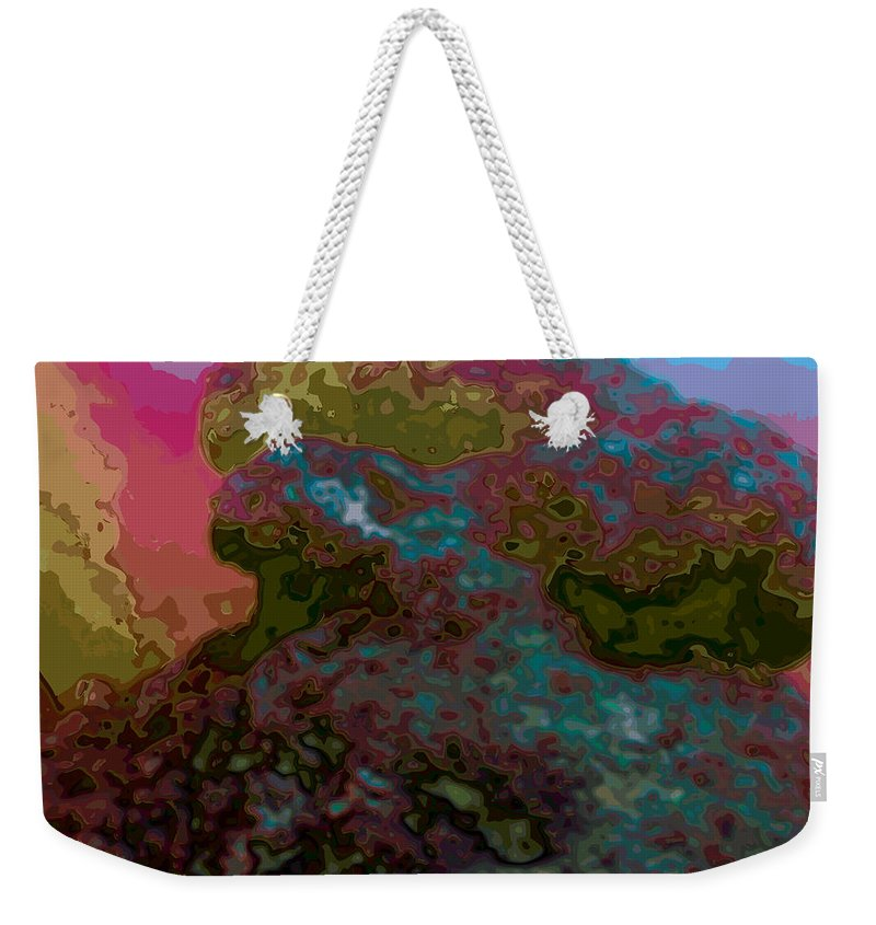 Abstract Weekender Tote Bag featuring the digital art It Is What It Is by James Kramer