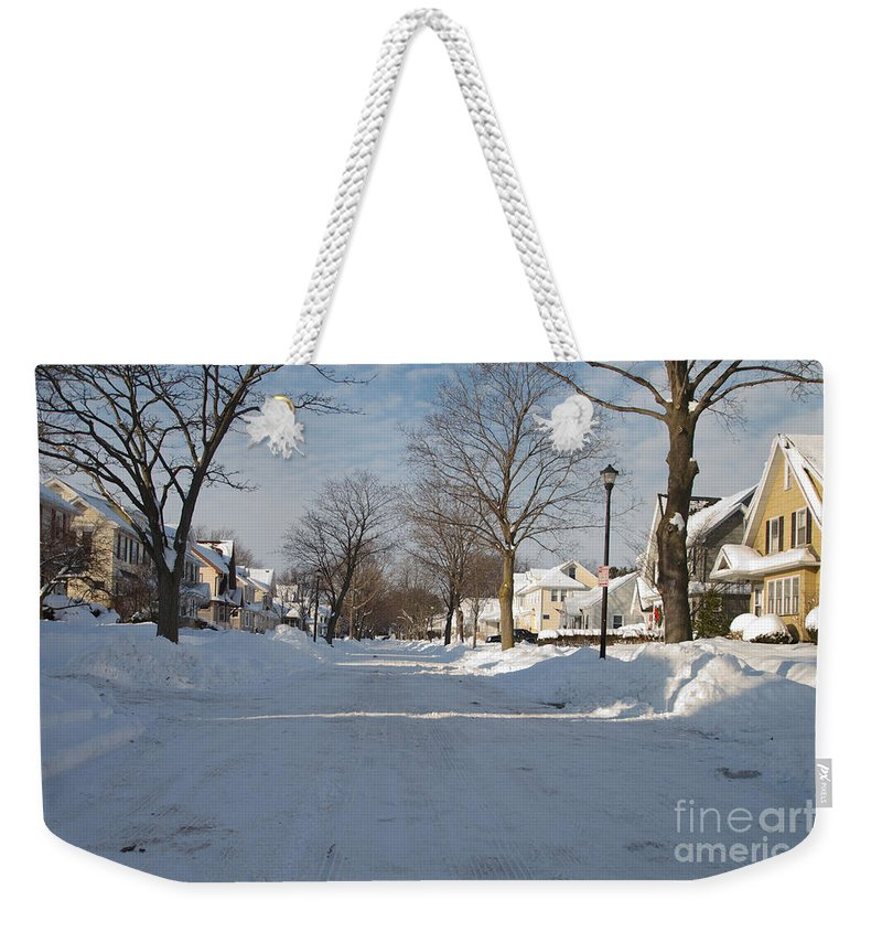 Winter Weekender Tote Bag featuring the photograph It Snowed by William Norton