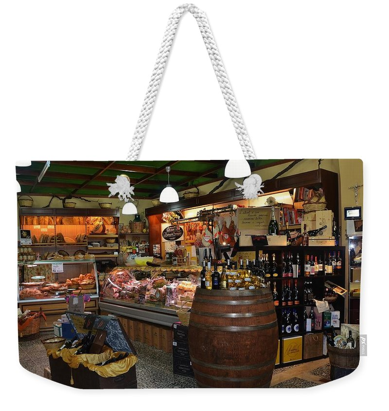 Grocery Weekender Tote Bag featuring the photograph Italian Grocery by Dany Lison