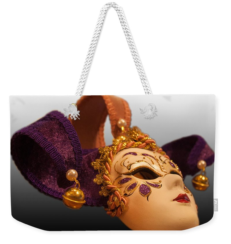 Mask Weekender Tote Bag featuring the photograph Italian Masquerade by Michael Porchik
