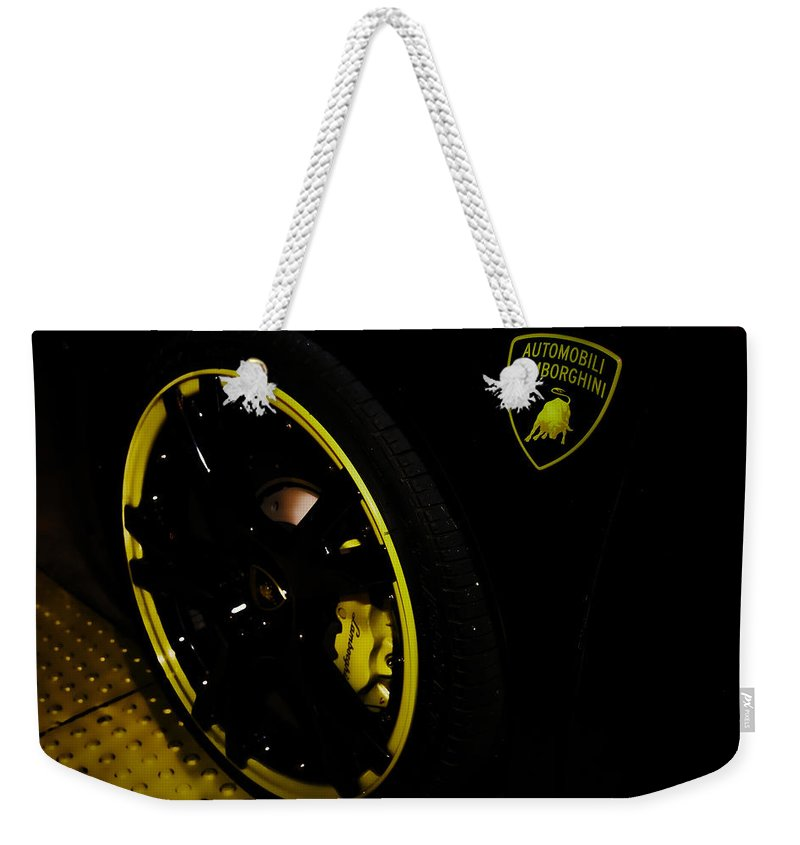 Exotic Sports Car Weekender Tote Bag featuring the photograph Automobili by Digital Kulprits