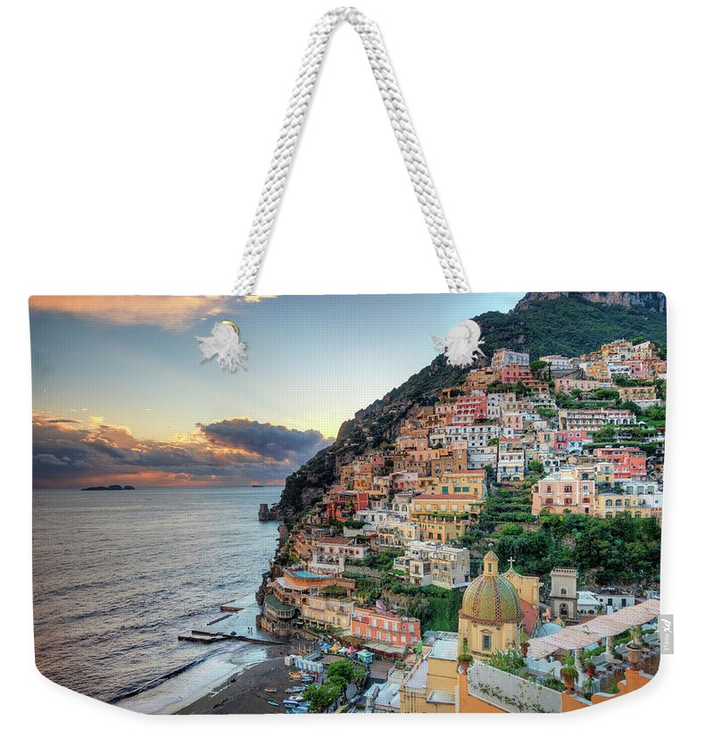 Amalfi Coast Weekender Tote Bag featuring the photograph Italy, Amalfi Coast, Positano by Michele Falzone