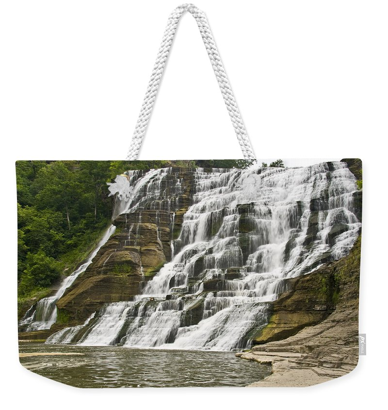 Ithaca Falls Weekender Tote Bag featuring the photograph Ithaca Falls by Anthony Sacco