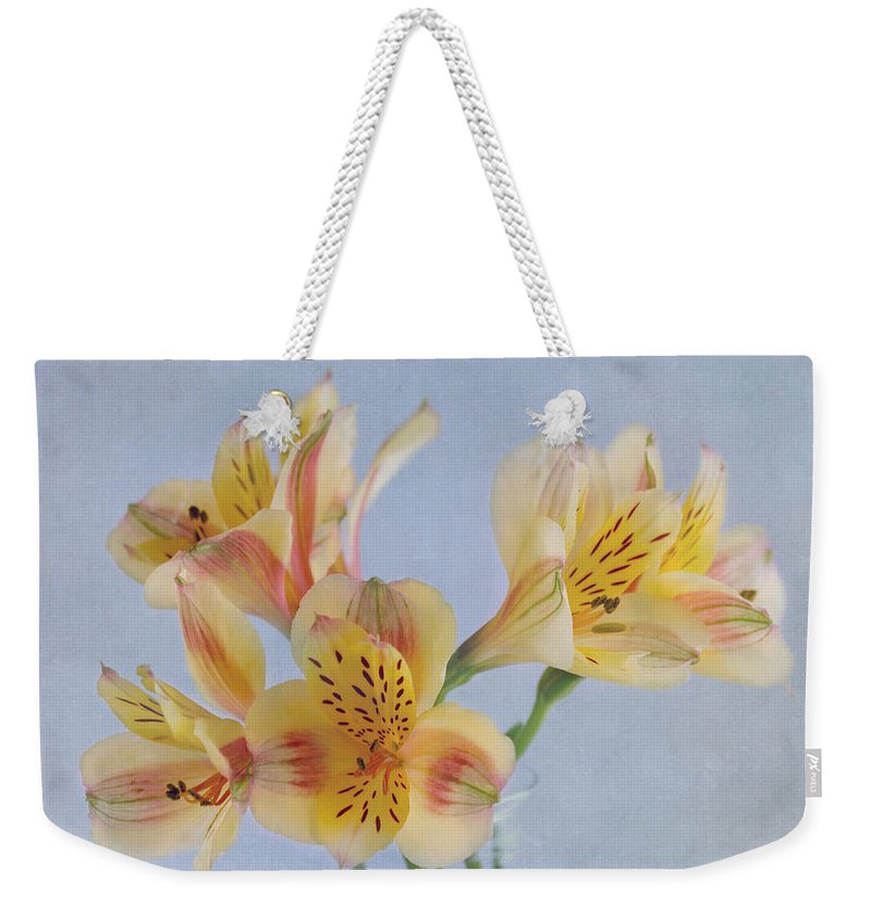 Yellow Flower Weekender Tote Bag featuring the photograph It's A Beautiful Day by Kim Hojnacki