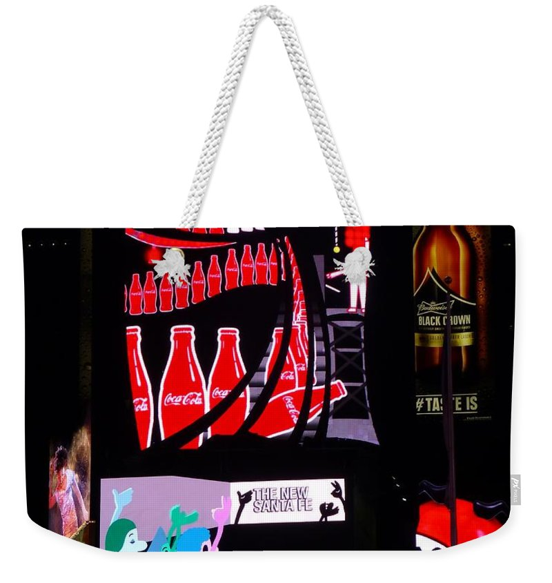 New York City Weekender Tote Bag featuring the photograph It's A Sign by Jennifer Wheatley Wolf