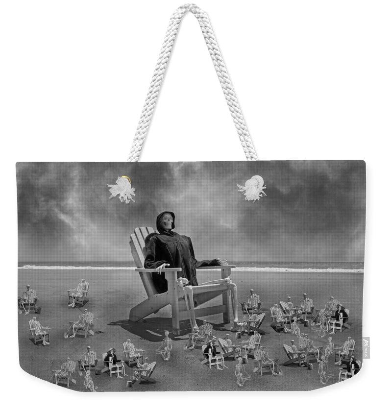 Human Weekender Tote Bag featuring the photograph It's All In Black And White by Betsy Knapp